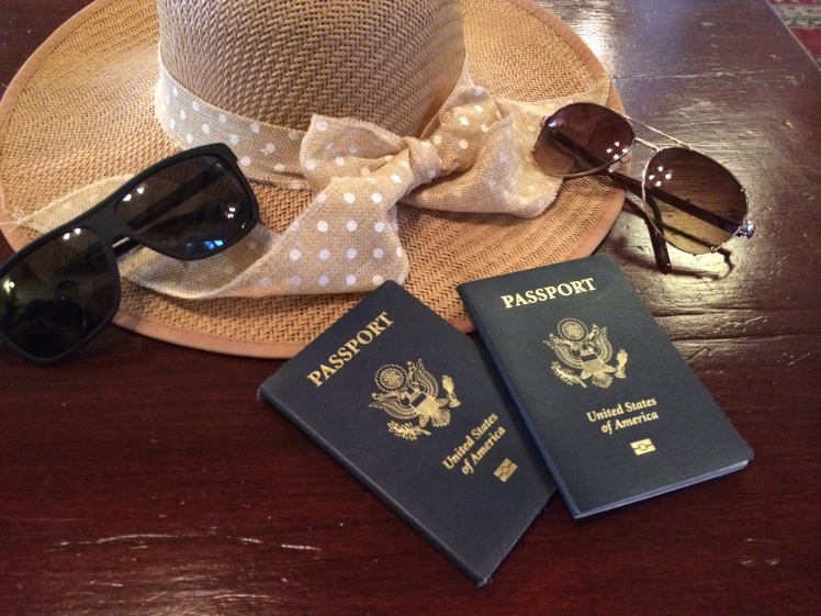 Passports: check! Sunglasses: check!