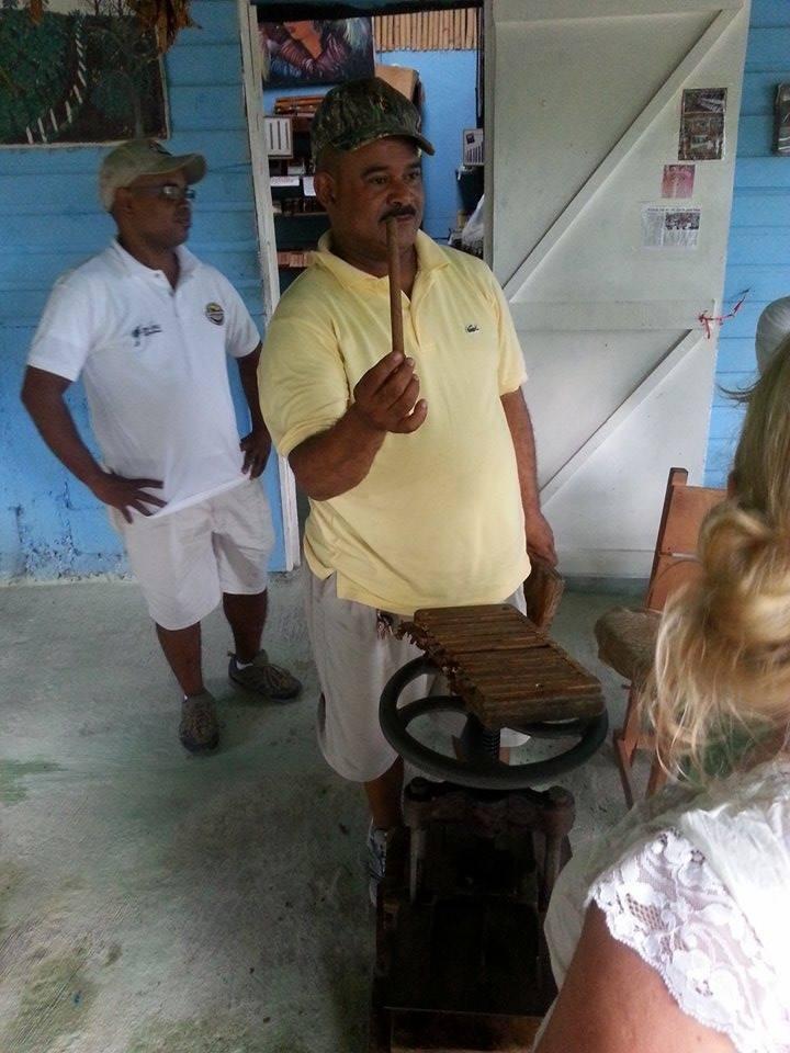 cigar rolling demonstration