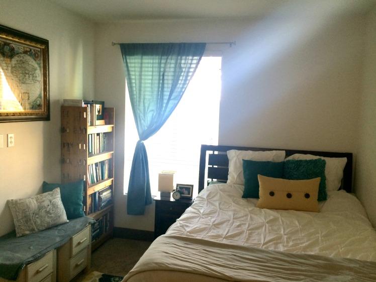 bedroom & sunlight