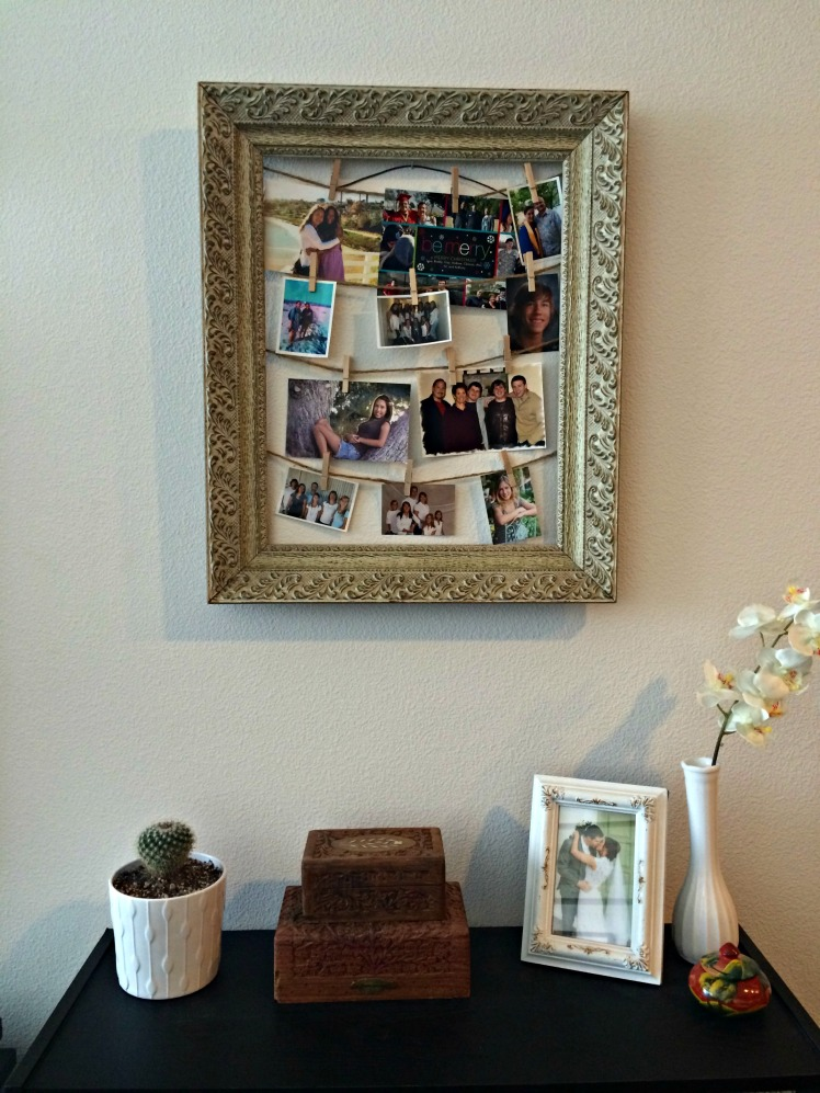 photos in living room