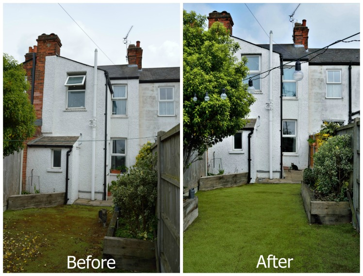 Before-after Facing house