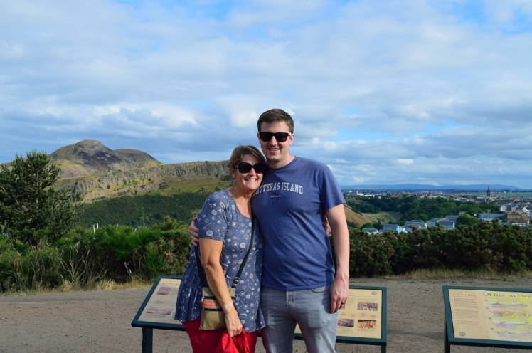 Calton Hill - Andrew+Mom